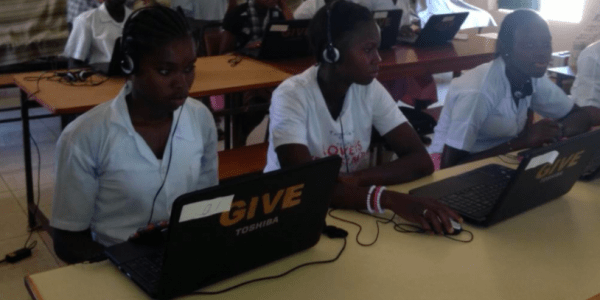 Typing program success in Gambia