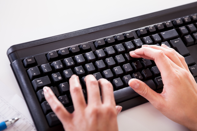 Touch-typing can help people manage their dyslexia at work